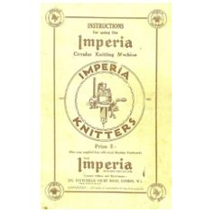 Imperia alt Instruction Book-contains instructions for knitting lace patterns