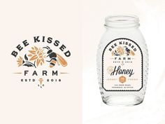 Bee Kissed Farms flowers bees honey packaging label small business farm logo branding The post Bee Kissed Farms flowers bees honey packaging label small business farm logo bra& appeared first on Design. Logo Branding, Graphic Design Branding, Label Design, Corporate Branding, Corporate Design, Bakery Branding, Bakery Logo Design, Logo Inspiration, Packaging Design Inspiration