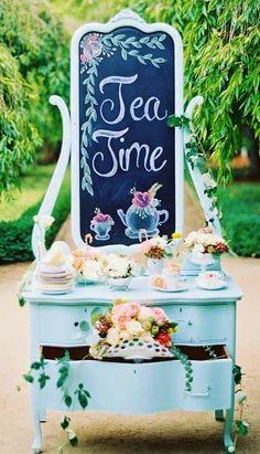 Tea Party set-up.