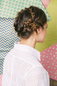5-Minute Hairstyles — For Real! #refinery29  http://www.refinery29.com/69882#slide-8  Complete the look by securing the final braid in the back of your hair.