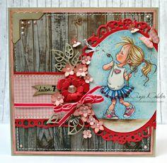 """Geburtstagskarte Mädchen/birthday Card Girls/Image form Mo Manning """"Make a wish"""""""