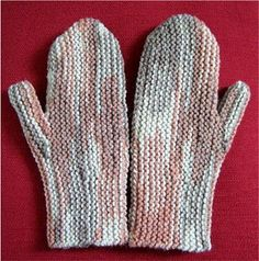 Knitting Nonni's Patterns: Original Sideways Mittens - 2 Sizes