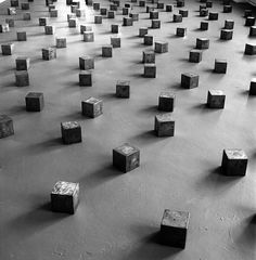 Carl Andre, 1996. Photo by Museion.