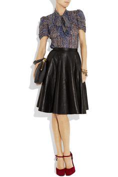 Anna Sui top, Kelly Bergin skirt, Dolce & Gabbana shoes, and Miu Miu bag