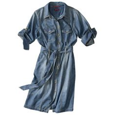 Merona® Women's Belted Shirt Dress - Haven't had a shirt dress since high school but this is what I want, maybe a smidge shorter to look good with leggings