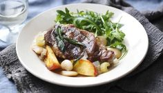 BBC - Food - Recipes : Slow cooker pork shoulder with butterbeans, apple and sage