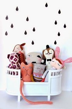 Toys hanging out in the rain #kidsroom