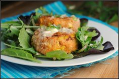 Salmon Cakes Added spices italian and my own and a little honey Dijon mustard