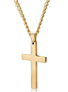 98ad69c3c543 Jstyle Jewelry Mens Cross Necklace for Men Women Stainless Steel Pendant 22  24 Inch   You