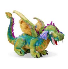 Melissa and Doug Dragon Plush Toy - Let your imagination soar with the Melissa and Doug Dragon Plush Toy . This whimsical plush dragon features vibrant colors and a soft, huggable body. Giant Stuffed Animals, Dinosaur Stuffed Animal, Stuffed Toys, Crime, Dragons Online, Dragon Kid, Dinosaur Toys, Melissa & Doug, Storytelling