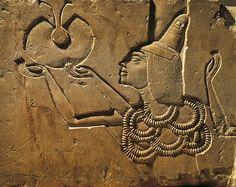 Egypt, Tell el-Amarna, Bas-relief depicting an offerer, eighteenth dynasty, New Kingdom, limestone 16th-11th Century B.C., Egyptian Museum, Egyptian art