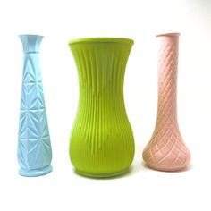 vintage vases pastels nursery decor  //  upcycled milk by nashpop, $28.00