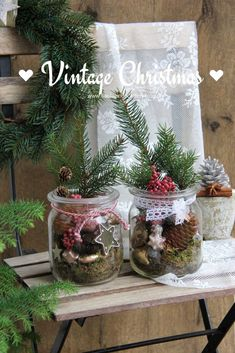 Weihnachten Vintage total Very quickly homemade Christmas decoration in vintage look. Collect moss and small Christmas decorations in disposable glass – done. Christmas Time, Vintage Christmas, Christmas Wreaths, Christmas Crafts, Merry Christmas, Christmas Cover, Homemade Christmas Decorations, Xmas Decorations, Holiday Decor
