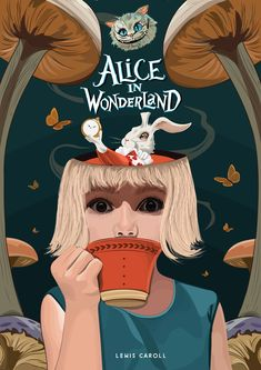 Alice In Wonder Book Cover.  Chad Linden - @chad_linden