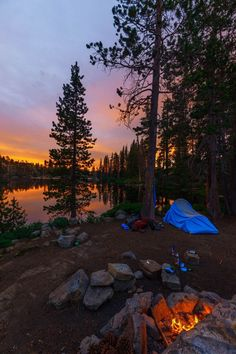 Tahoe's Backpacking and Photography Secret: Loch LevenDuring a Tahoe summer, nothing is better than a campsite by a lake, with sunset campfires and plenty of rocks for epic swan-diving. Lake Tahoe's Least Crowded and Most Photogenic Campsite Camping Ideas, Camping Hacks, Camping Checklist, Camping Life, Tent Camping, Campsite, Outdoor Camping, Lake Tahoe Camping, Family Camping