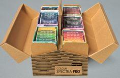 Дизайнерское агентство изМумбаи Designstack создали дизайн упаковки Colour Spectra Pro дляAsian Paints. Asian Paints один изкрупнейших корпораций вмире попроизводству краски спредставительствами в17 странах мира и23 производственными мощностями.  Colour Spectra Pro содержит набор образцов 1800 оттенков краски.  Colour Spectra Pro состоит из6 наборов (комплектов) образцов. Каждый комплект заключен всвой кожух, накотором указаны диапазоны цветов, которые присутствуют вэтом…