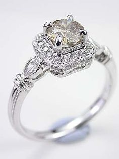 Champagne Diamond Engagement Ring ~ 35 Pieces Of Gorgeous Jewelery - Style Estate -