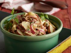 Texas-Style Potato Salad with Mustard and Pickled Red Onions from FoodNetwork.com  http://www.foodnetwork.com/recipes/bobby-flay/texas-style-potato-salad-with-mustard-and-pickled-red-onions-recipe/index.html