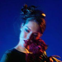 《Being of Love》手工製皮革時裝禮帽 / 黑玫瑰面紗頭飾 -  | Pinkoi