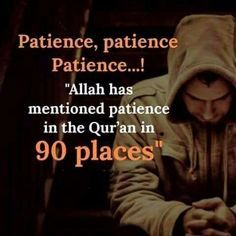 Patience is mentioned 90 times in Quran Islam Muslim, Allah Islam, Islam Quran, Muslim Women, Quran Quotes Inspirational, Faith Quotes, Religious Quotes, Islamic Quotes, Islamic Images