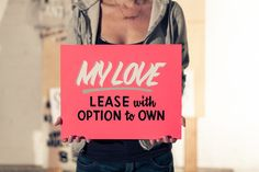 love for sale - hand-lettered signs that make fun of valentine's day by Annica Lydenberg
