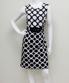 This White & Black Grand Sheath Dress is perfect! #zulilyfinds