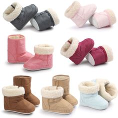 Baby Soft Crib Sole Warm Snow Boots Toddler Newborn Grils Boys Anti-slip  Shoes ce739a591c92