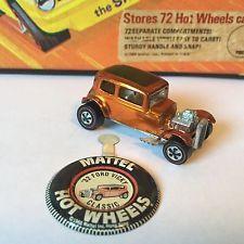 Original Hot Wheels Redline Classic 32 FORD Vicky in Metallic ORANGE! NEAR MINT!