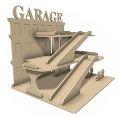 Garage - Bois médium - 32x38cm - Loisirs Créatifs Supports Médium - Cultura
