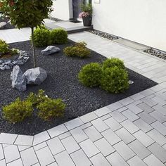 Front yard ideas modern Front yard ideas modern garden and building – # building … - Modern Small Gardens, Outdoor Gardens, Amazing Gardens, Beautiful Gardens, Modern Front Yard, Modern Garden Design, Contemporary Garden, Front Yard Landscaping, Landscaping Ideas