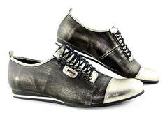 Trendové kožené topánky so zlatou špičkou • Kabelky-topanky.sk