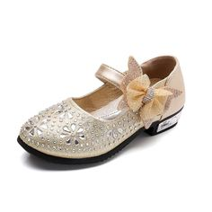 Gold Flower Girl Party Shoes