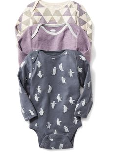 Old Navy | Printed Bodysuit 3-Pack