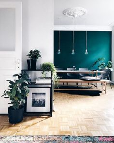 My Scandinavian Home Teal Steals The Show In This Hamburg Apartment We Are Want To
