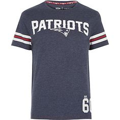 Navy NFL Patriots team print t-shirt - print t-shirts - t-shirts / vests - men Patriots Team, T Shirt Vest, Mens Sale, My Guy, Vintage Tees, Mens Fashion, Guy Fashion, Printed Shirts, Tank Man