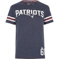 Navy NFL Patriots team print t-shirt $40.00
