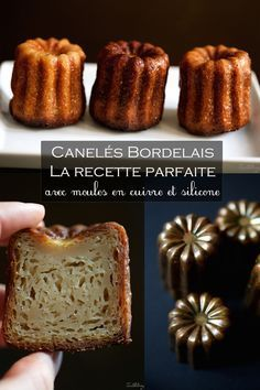 Canelés bordelais, la receta perfecta (paso a paso) Thermomix Desserts, Köstliche Desserts, Delicious Desserts, French Desserts, French Bakery, French Pastries, Sweet Recipes, Cake Recipes, Dessert Recipes