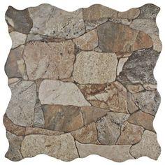 EliteTile Atticas Random Sized Ceramic Splitface Tile in Brown