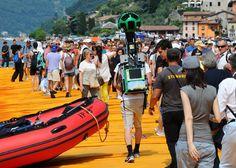 The Floating Piers finisce su Street View: il trekker Google sul pontile di Christo