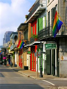Bourbon St. , New Orleans--hope to visit within the next year or 2:)