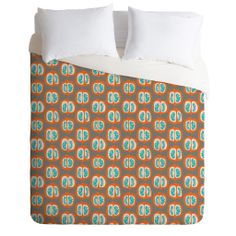 Mummysam Orange Pomegranate Duvet Cover | DENY Designs Home Accessories