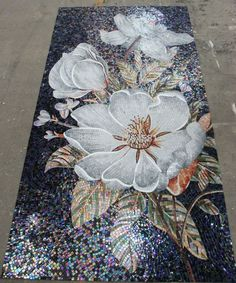 Image result for flower mosaic tiles