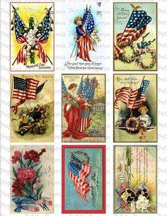 Vintage Memorial Day Postcards Digital Download by PetitePaperie, $2.95