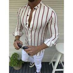 IEasⓄn Men Shirt Autumn Winter New Man Lapel Button Print Long Sleeve Top Casual Daily Blouse