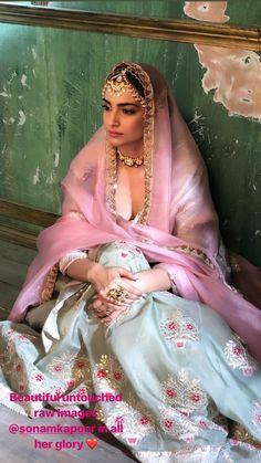 Sonam Kapoor Ahuja for Bridal Asia Magazine cover. Wedding Dresses For Girls, Party Wear Dresses, Bridal Dresses, Indian Dress Up, Indian Gowns, Indian Wear, Indian Bridal Outfits, Indian Designer Outfits, Ethnic Fashion