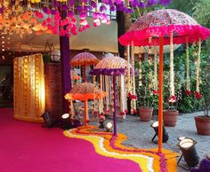 When you're looking for flower decorators in Hyderabad or Wedding Stage Decoration, choose the best professionals. Indian Wedding Theme, Desi Wedding Decor, Wedding Stage Decorations, Wedding Mandap, Diwali Decorations, Wedding Themes, Flower Decorations, Umbrella Decorations, Indian Weddings