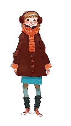 Aurélie Neyret illustration: It's getting cold