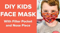 I'm sharing how you can make a kids face mask, as well as any other size you will need! This Face Mask has a filter pocket AND a metal piece for the nose! Face Masks For Kids, Easy Face Masks, Homemade Face Masks, Diy Face Mask, Nose Mask, Acne Face Mask, Best Face Mask, Face Face, Korean Face Mask