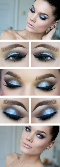 Time to live, time to love - Silver with big eyeliner and long lashes