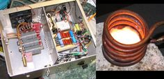[Tim Williams] likes to heat things up with this induction heater he built. At peak it can use 1000W and as you can see in the video, that's more than enough power to heat, burn, and melt a plethora o...